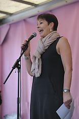 Caroline Lucas MP addresses Extinction Rebellion crowd, London, 22 April 2019