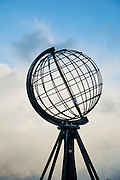 The Globe monument at North Cape (Nordkapp), ofter described as the most northerly point in Europe, in northern Norway