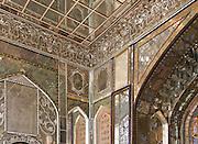 Throne Room (mirror detail) Golestan Palace, Tehran, Iran.