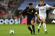 Radamel Falcao Garcia of AS Monaco in action. UEFA Champions league match, group E, Tottenham Hotspur v AS Monaco at Wembley Stadium in London on Wednesday 14th September 2016.<br /> pic by John Patrick Fletcher, Andrew Orchard sports photography.
