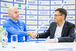 Rok Predanic and Roman Dobnikar during press conference when Slovenian athletes and their coaches sign contracts with Athletic federation of Slovenia for year 2016, on February 25, 2016 in AZS, Ljubljana, Slovenia. Photo by Vid Ponikvar / Sportida