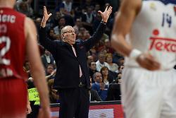 January 27, 2017 - Madrid, Madrid, Spain - EA7 Emporio Armani Milano's coach Jasmin Repesa gestures during the Euroleague basketball match between Real Madrid and EA7 Emporio Armani Milano. (Credit Image: © Jorge Sanz GarcíA/Pacific Press via ZUMA Wire)