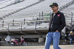 April 13, 2018 - Bristol, Tennessee, United States of America - April 13, 2018 - Bristol, Tennessee, USA: Kurt Busch (41) looks over the racing surface before opening practice for the Food City 500 at Bristol Motor Speedway in Bristol, Tennessee. (Credit Image: © Chris Owens Asp Inc/ASP via ZUMA Wire)