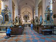 Bazylika Nawiedzenia Najświętszej Maryi Panny - wnętrze, Sejny, Polska<br /> Basilica of the Visitation of the Blessed Virgin Mary in Sejny - inside, Poland