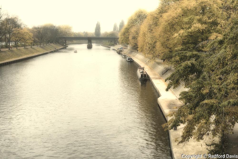 York, England. River in autumn.