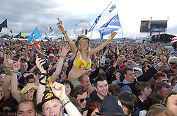 Fans of the Stereophonics on the Main stage at T in the Park Friday 11 July 2008..T in the Park 2008 festival took place on the Friday 10th July, Saturday 11th July and Sunday 12th July, at Balado, near Kinross in Perth and Kinross, Scotland..Pic ©Michael Schofield. All Rights Reserved..