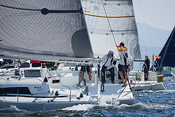 Sailing - SCOTLAND  - 25th-28th May 2018<br /> <br /> The Scottish Series 2018, organised by the  Clyde Cruising Club, <br /> <br /> First days racing on Loch Fyne.<br /> <br /> GBR7667R, Now or Never 3, Neil Sandford, Fairlie YC, Mat 1010<br /> <br /> Credit : Marc Turner<br /> <br /> <br /> Event is supported by Helly Hansen, Luddon, Silvers Marine, Tunnocks, Hempel and Argyll & Bute Council along with Bowmore, The Botanist and The Botanist