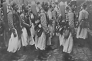 Turcos, French Algerian and Tunisian colonial troops, c1914.  The light infantrymen, originally trained as skirmishers, acquired the nickname 'Turcos' during the Crimean War and served in the French army for more than a century.