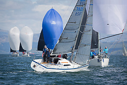 Pelle P Kip Regatta 2019 Day 1<br /> <br /> Light and bright conditions for the opening racing on the Clyde keelboat season<br /> <br /> GBR7029, Farr e Nuff, John S Kent, Fairlie YC & Largs SC, Farr 727