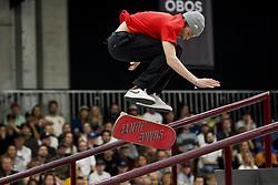 May 20, 2018 - Oslo, NORWAY - 180520 Jonas Carlsson of Sweden competes in the menÃ•s street skateboard finals during X Games Norway on May 20, 2018 in Oslo.Photo: Fredrik Varfjell / BILDBYRN / kod FV / 150099 (Credit Image: © Fredrik Varfjell/Bildbyran via ZUMA Press)