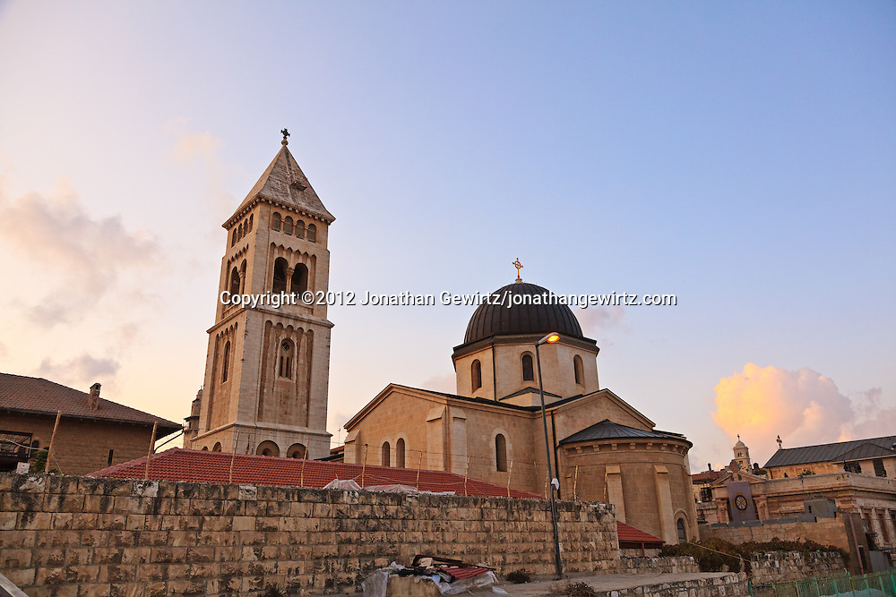 The Lutheran Church of the Redeemer in the Christian Quarter of the Old City of Jerusalem. WATERMARKS WILL NOT APPEAR ON PRINTS OR LICENSED IMAGES.