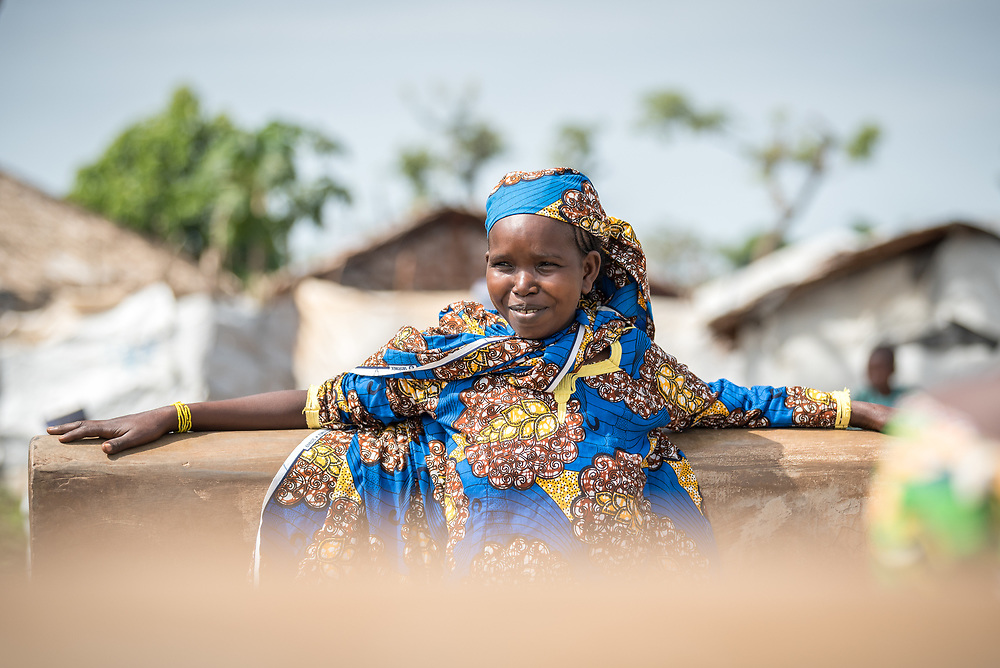 5 June 2019, Gado, Cameroon: A girl hangs out at a water point in Gado. Supported by the Lutheran World Federation, the Gado refugee camp in he East region of Cameroon hosts more than 25,000 refugees from neighbouring Central African Republic.