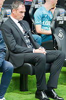 Football - 2017 / 2018 Premier League - Swansea City vs. Manchester United<br /> <br /> Swansea Coity manager Paul Clement looks thoughtful before the game—<br /> , at Liberty Stadium.<br /> <br /> COLORSPORT/WINSTON BYNORTH