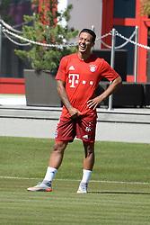 01.07.2015, Saebener Strasse, Muenchen, GER, 1. FBL, FC Bayern Muenchen, Trainingsauftakt, im Bild vl. Thiago Alcantara ( FC Bayern Muenchen ) // during a traning session of German 1st Bundeliga Club FC Bayern Munich at the Saebener Strasse in Munich, Germany on 2015/07/01. EXPA Pictures © 2015, PhotoCredit: EXPA/ Eibner-Pressefoto/ Vallejos<br /> <br /> *****ATTENTION - OUT of GER*****