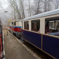 Children's Railway in Budapest, Hungary on November 16, 2014. ATTILA VOLGYI