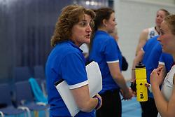20190424 NED: Sliedrecht Sport - VC Sneek: Sliedrecht<br /> Vera Koenen, headcoach of Sliedrecht Sport <br /> ©2019-FotoHoogendoorn.nl / Pim Waslander