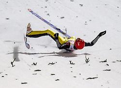 06.01.2013, Paul Ausserleitner Schanze, Bischofshofen, AUT, FIS Ski Sprung Weltcup, 61. Vierschanzentournee, Bewerb, im Bild Sturz von Andreas Wellinger (GER) // Chrash Andreas Wellinger of Germany during Competition of 61th Four Hills Tournament of FIS Ski Jumping World Cup at the Paul Ausserleitner Schanze, Bischofshofen, Austria on 2013/01/06. EXPA Pictures © 2012, PhotoCredit: EXPA/ Juergen Feichter
