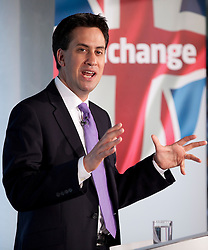 © Licensed to London News Pictures. 07/06/2012. LONDON, UK. Labour leader Ed Miliband gives a speech on 'Defending the Union' at London's Royal Festival Hall today (07/06/12). Photo credit: Matt Cetti-Roberts/LNP