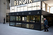 Renoir Cinema at The Brunswick Centre near to Russel Square, central London. This area until recently was extremely run down. Now cleaned up it is a popular whopping and entartainment centre.