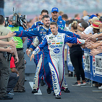 May 19, 2018 - Concord, North Carolina, USA: AJ Allmendinger (47) gets introduced for the Monster Energy All-Star Race at Charlotte Motor Speedway in Concord, North Carolina.