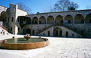 Water fountain at Beit Eddine, Beit ed-Dine, Beiteddine Palace of Emir Bashir, Chouf, Lebanon 1998