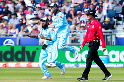 Adil Rashid of England celebrates running out Ross Taylor of New Zealand - Mandatory by-line: Robbie Stephenson/JMP - 03/07/2019 - CRICKET - Emirates Riverside - Chester-le-Street, England - England v New Zealand - ICC Cricket World Cup 2019 - Group Stage