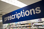 Prescription Drugs behind the counter at Boots the chemist in London, England, United Kingdom.
