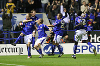 Photo: Pete Lorence.<br />Leicester City v Aston Villa. Carling Cup. 24/10/2006.<br />Leicester's Richard Stearman celebrates his eqaulising goal.