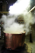 Belgium, Traditional Production of Molasses in a large copper vat