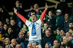 Fans of Slovenia during football match between National teams of Slovenia and North Macedonia in Group G of UEFA Euro 2020 qualifications, on March 24, 2019 in SRC Stozice, Ljubljana, Slovenia. Photo by Vid Ponikvar / Sportida