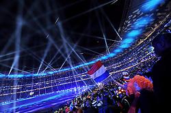 11.07.2010, Soccer-City-Stadion, Johannesburg, RSA, FIFA WM 2010, Finale, Niederlande (NED) vs Spanien (ESP) im Bild Übersicht des Stadions während der Schlusszeremonie, Lichtstimmung, EXPA Pictures © 2010, PhotoCredit: EXPA/ InsideFoto/ Perottino *** ATTENTION *** FOR AUSTRIA AND SLOVENIA USE ONLY! / SPORTIDA PHOTO AGENCY