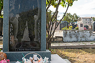 An etched headstone marks the grave of an Armenian soldier of the Nagorno-Karabakh War at a cemetery in Stepanakert, the capital of the Nagorno-Karabakh Republic.<br /> <br /> (September 22, 2016)