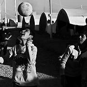 Children fleeing Mosul play at Khazir Camp in Northern Iraq.