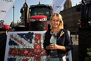 NFU Vice President Minette Batters at the National Farmers Union NFU took machinery, produce, farmers and staff to Westminster to encourage Members of Parliament to back British farming, post Brexit on 14th September 2016 in London, United Kingdom. MPs were encouraged to sign the NFU's pledge and wear a British wheat and wool pin badge to show their support.