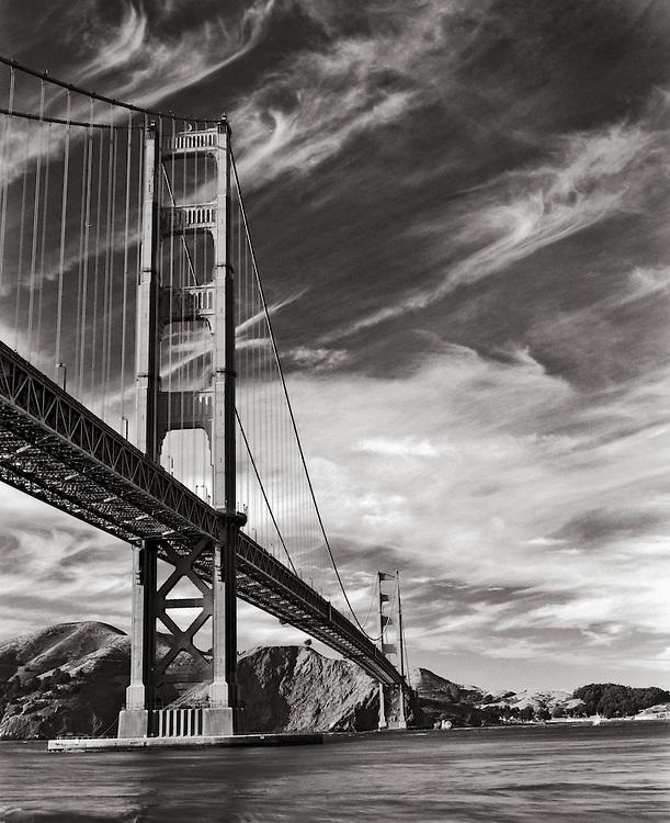 Golden Gate Bridge photographed from San Francisco.