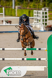 Gill Alex David, GBR, Inaico VDL<br /> Nationaal Kampioenschap KWPN<br /> 7 jarigen springen round 2<br /> © Dirk Caremans<br /> 18/08/2020