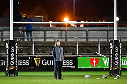 Cheetahs' Head Coach Rory Duncan during the pre match warm up<br /> <br /> Photographer Craig Thomas/Replay Images<br /> <br /> Guinness PRO14 Round 18 - Dragons v Cheetahs - Friday 23rd March 2018 - Rodney Parade - Newport<br /> <br /> World Copyright © Replay Images . All rights reserved. info@replayimages.co.uk - http://replayimages.co.uk
