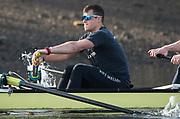 Putney, London,  Tideway Week, Championship Course. River Thames,  Oxford UBC.  6: Michael DiSanto, Tuesday  28/03/2017<br /> [Mandatory Credit; Credit: Peter Spurrier/Intersport Images.com ]