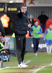 Peterborough United Manager, Darren Ferguson issues instructions from the touchline - Photo mandatory by-line: Joe Dent/JMP - Tel: Mobile: 07966 386802 22/02/2014 - SPORT - FOOTBALL - Stevenage - Broadhall Way - Stevenage v Peterborough United - Sky Bet League One