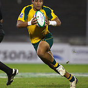 Kimami Sitauti, Australia, in action during the Australia V New Zealand Final match at the IRB Junior World Championships in Argentina. New Zealand won the match 62-17 at Estadio El Coloso del Parque, Rosario, Argentina,. 21st June 2010. Photo Tim Clayton...