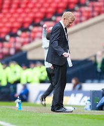 Falkirk manager Gary Holt after Hibernian's Leigh Griffiths scored their winning fourth goal..Hibernian 4 v 3 Falkirk, William Hill Scottish Cup Semi Final, Hampden Park..©Michael Schofield...