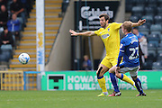 AFC Wimbledon defender Jon Meades (3) during the EFL Sky Bet League 1 match between Rochdale and AFC Wimbledon at Spotland, Rochdale, England on 27 August 2016. Photo by Stuart Butcher.