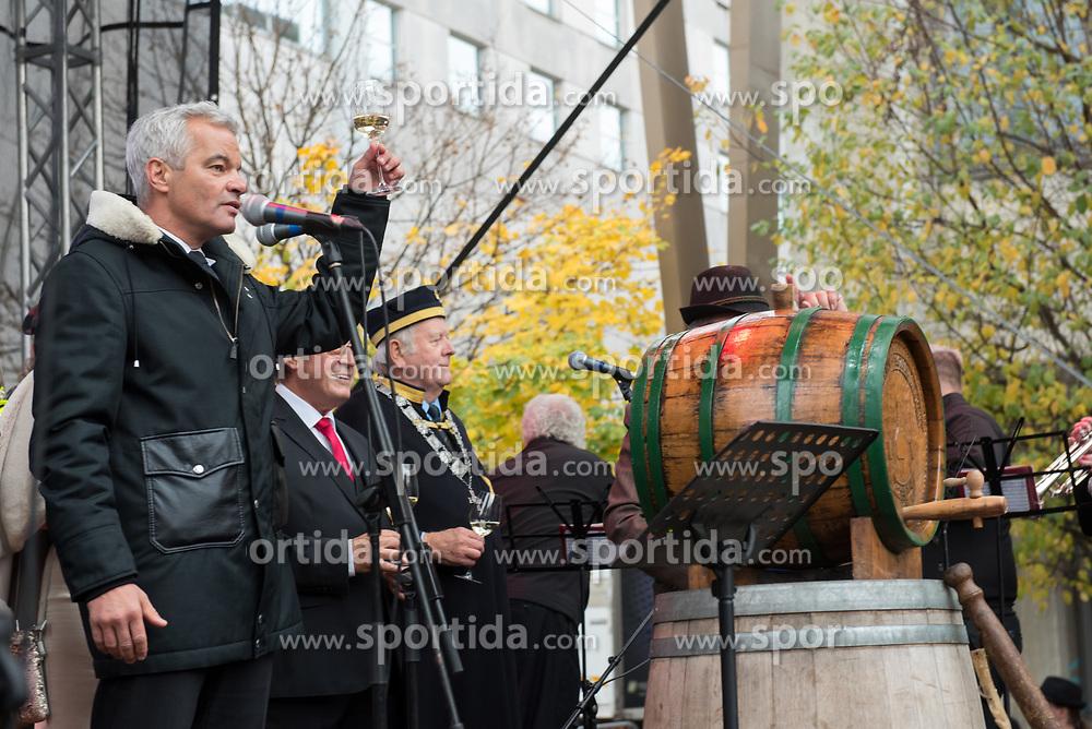 Sasa Arsenovic, mayor of Maribor during martinovanje, St. Martin's Day Celebration on November 11, 2019 in Maribor, Slovenia. Photo by Milos Vujinovic / Sportida