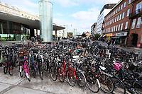 Bicycles at Nørreport Station, General Views of Copenhagen, Denmark, 07 October 2019, Photo by Richard Goldschmidt