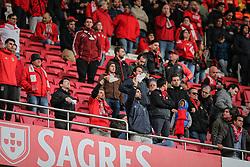 April 30, 2018 - Na - Lisbon, 04/28/2018 - Sport Lisboa e Benfica received this afternoon at the Estádio da Luz in Lisbon, CD Tondela in the 32nd matchday of the NOS Primera Liga, season 2017/2018. Benfica supporters' white scarves  (Credit Image: © Atlantico Press via ZUMA Wire)
