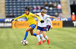 February 27, 2019 - Chester, PA, U.S. - CHESTER, PA - FEBRUARY 27: Brazil Midfielder Andressa (7) fights for the ball with England Forward Fran Kirby (10) in the fist half during the She Believes Cup game between Brazil and England on February 27, 2019 at Talen Energy Stadium in Chester, PA. (Photo by Kyle Ross/Icon Sportswire) (Credit Image: © Kyle Ross/Icon SMI via ZUMA Press)
