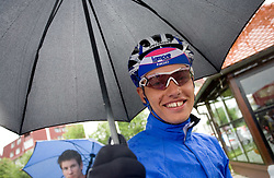 Simon Spilak  (SLO) of Lampre - N.G.C. at start at 3rd stage of Tour de Slovenie 2009 from Lenart to Krvavec, 175 km, on June 20 2009, Slovenia. (Photo by Vid Ponikvar / Sportida)