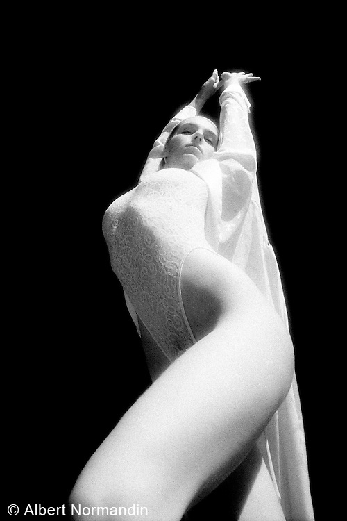 In white stretched out tall - One Woman Show