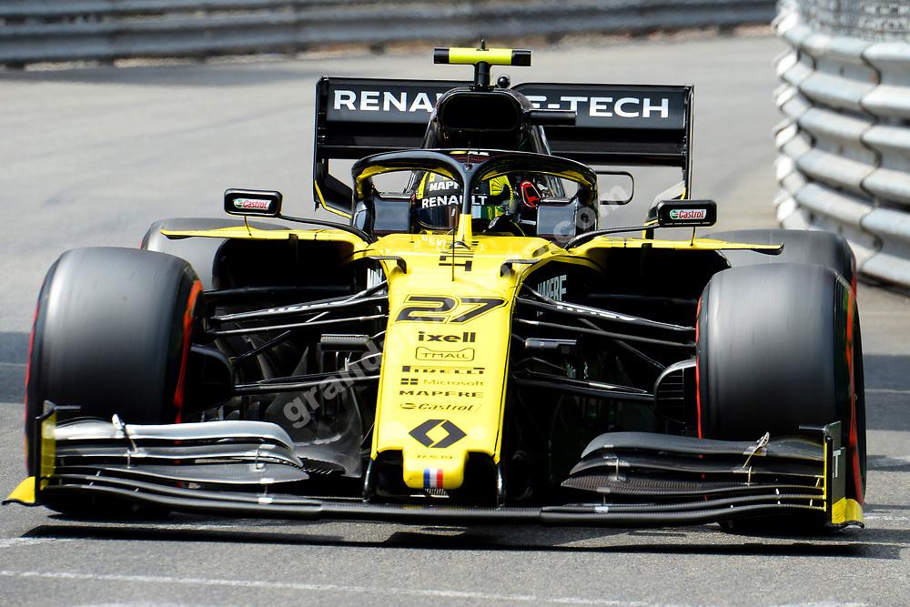 Nico Hulkenberg (Renault) during qualifying for the 2019 Monaco Grand Prix. Photo: Grand Prix Photo