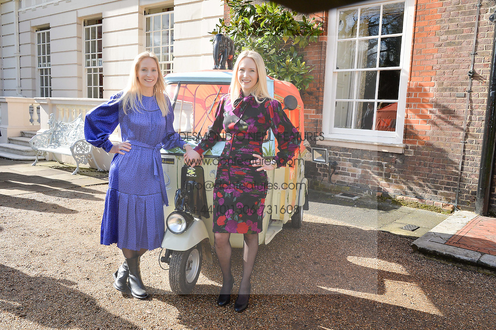Thursday 26th March 2015, The Elephant Family charity and Quintessentially Foundation announced the launch of 'Travels To My Elephant' – a once-in-a-lifetime rickshaw race taking place in India in November 2015. The official launch of the venture took place at Clarence House at an exclusive reception hosted by TRH The Prince of Wales and The Duchess of Cornwall,  joint patrons of Elephant Family.<br /> Picture shows:-RUTH ROYWS and MARY POWYS.
